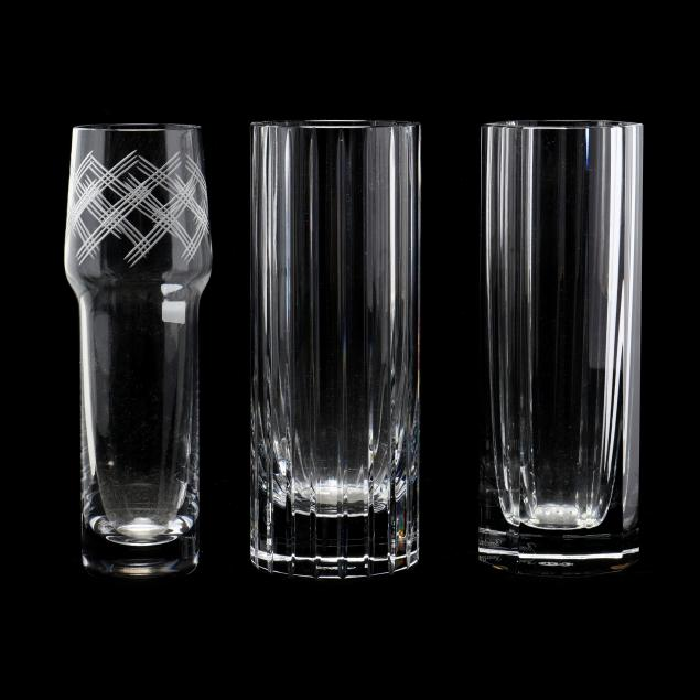 three-baccarat-crystal-cylindrical-vases