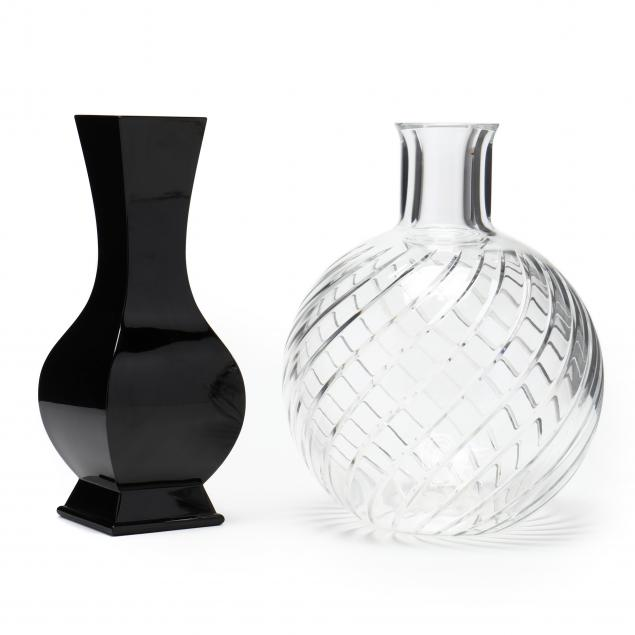 two-baccarat-crystal-vases