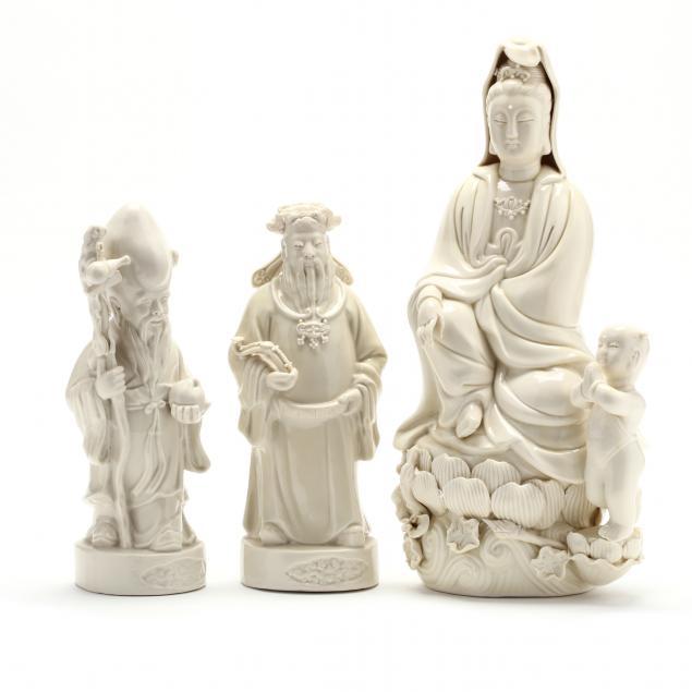 three-chinese-porcelain-blanc-de-chine-figures