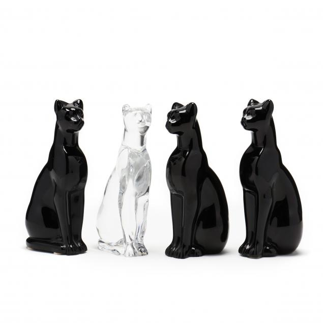 four-baccarat-crystal-cats