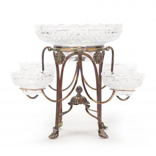 a-georgian-style-silverplate-and-cut-glass-epergne