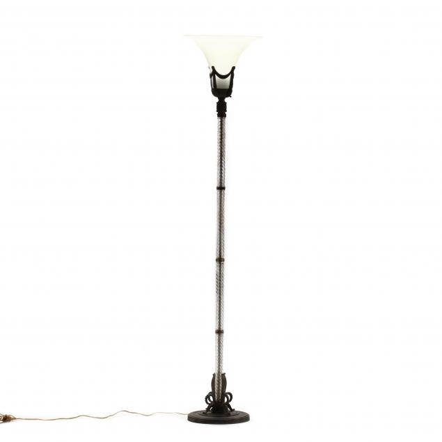 vintage-glass-and-metal-torchiere-floor-lamp