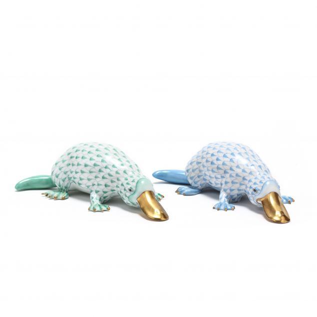 herend-pair-of-platypus