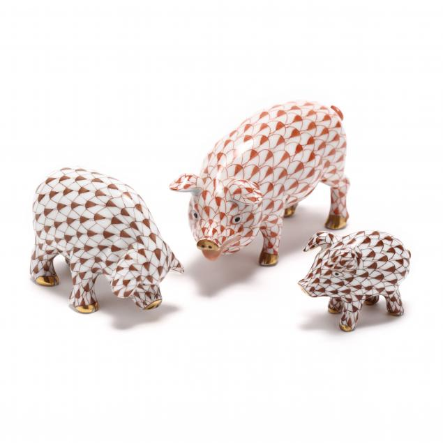 a-herend-porcelain-group-of-three-pigs
