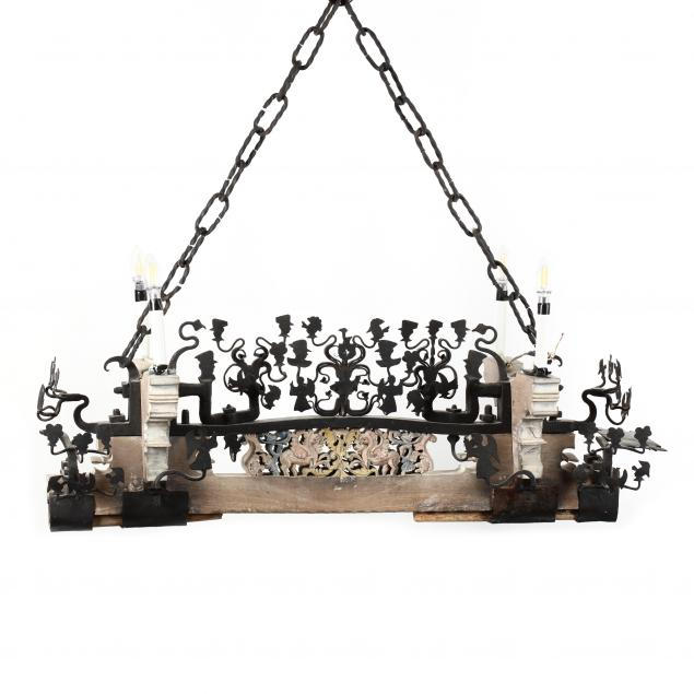 antique-repurposed-sicilian-goat-cart-chandelier