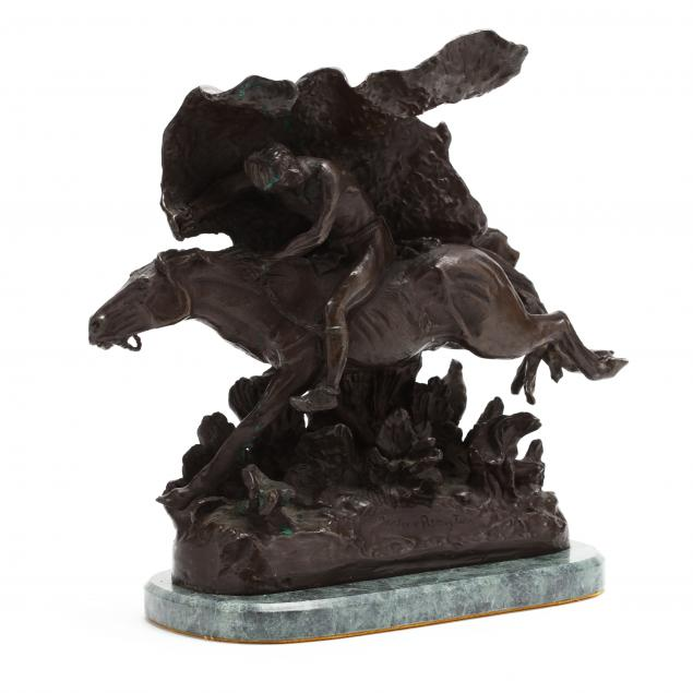 the-horse-thief-cast-bronze-after-frederic-remington
