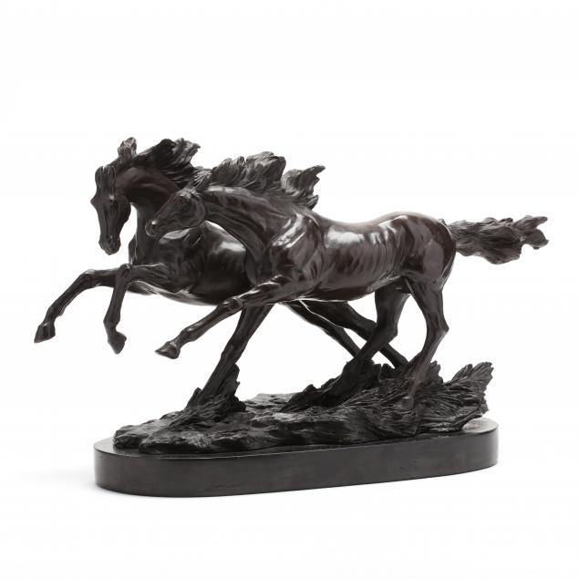 two-running-horses-bronze-sculpture-after-barye