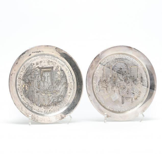 a-pair-of-sterling-silver-bicentennial-plates