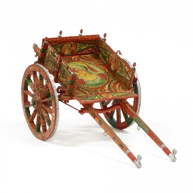 vintage-painted-sicilian-goat-cart
