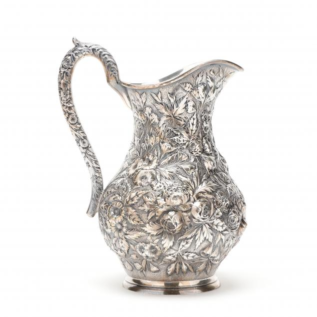 a-baltimore-repousse-sterling-silver-water-pitcher-mark-of-a-e-warner-jr