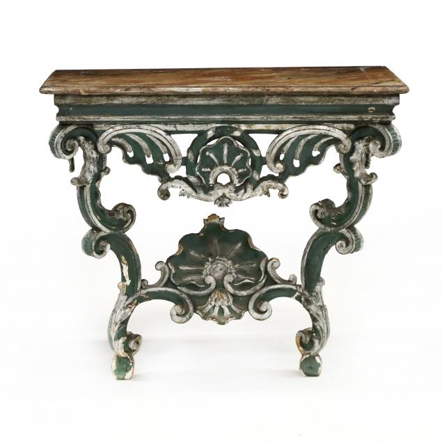 antique-swedish-painted-grotto-console-table
