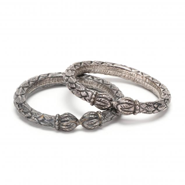 a-pair-of-indian-silver-bangle-bracelets