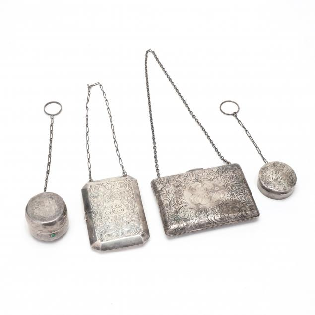 four-antique-sterling-silver-coin-purses