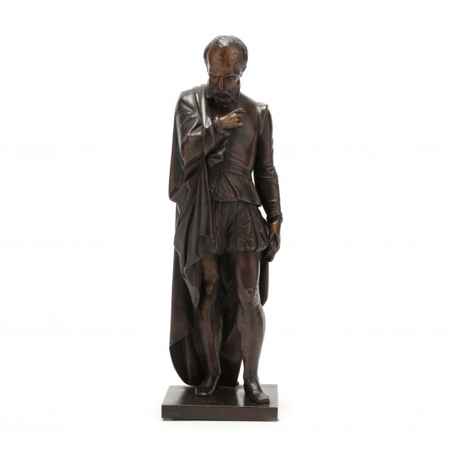 an-antique-bronze-sculpture-of-a-renaissance-figure