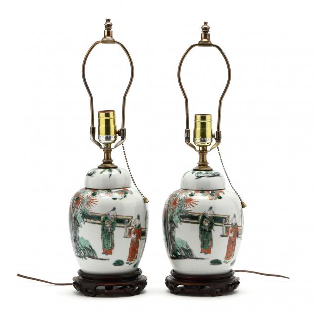 a-pair-of-chinese-famille-verte-ginger-jar-lamps