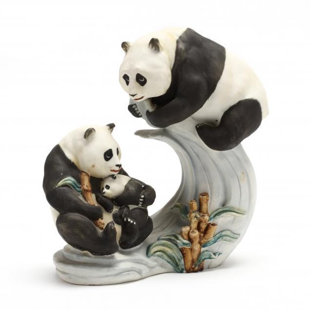 bisque-ceramic-panda-composition