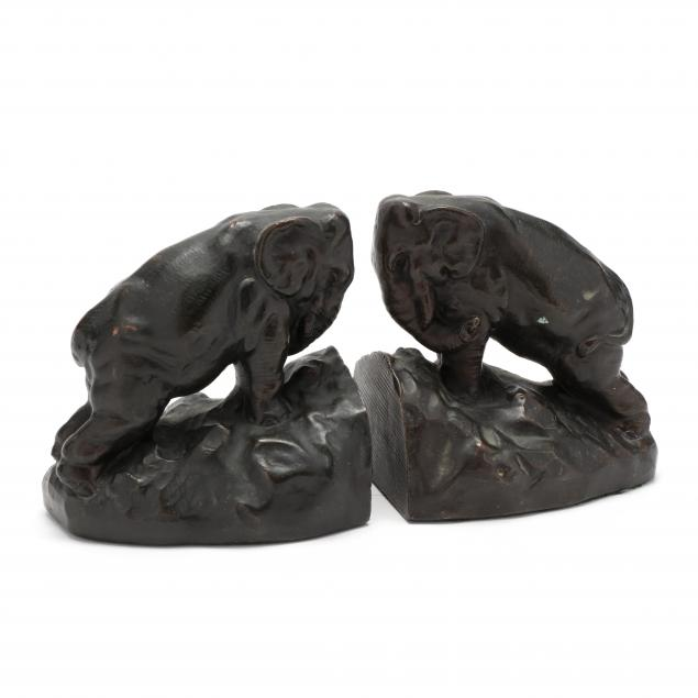 a-pair-of-bronze-elephant-bookends