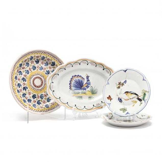 a-group-of-four-early-delft-plates