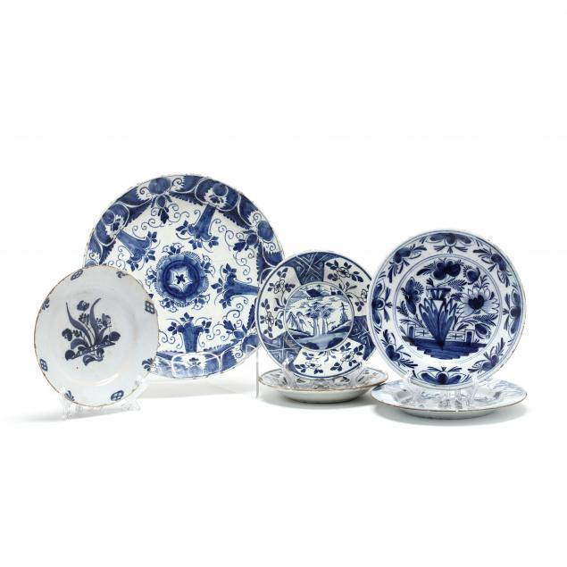 six-delft-blue-and-white-plates