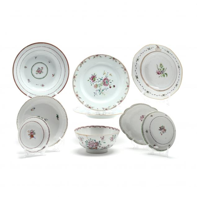 nine-chinese-export-porcelain-items