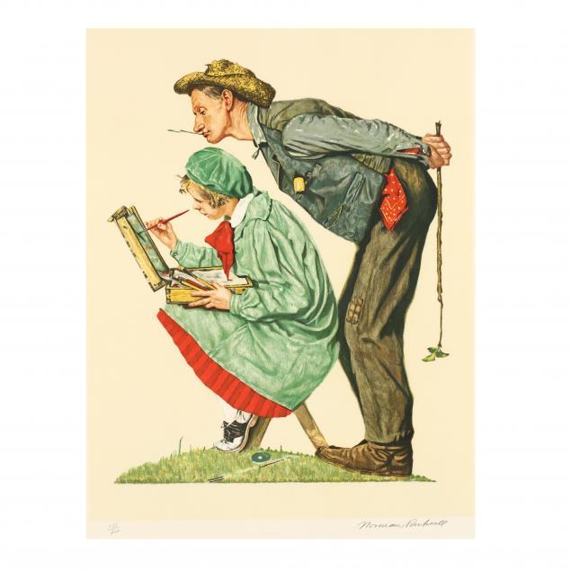 norman-rockwell-american-1894-1978-i-hayseed-critic-i