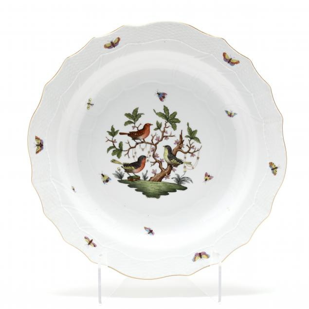a-large-herend-rothschild-bird-pasta-serving-platter