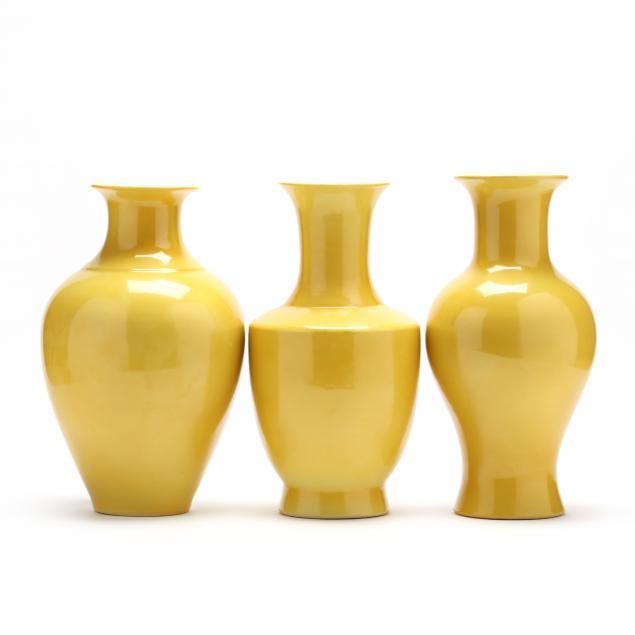 three-chinese-yellow-vases