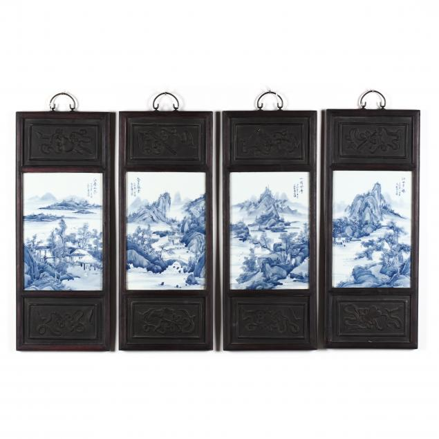 a-set-of-four-chinese-blue-and-white-porcelain-tile-panels