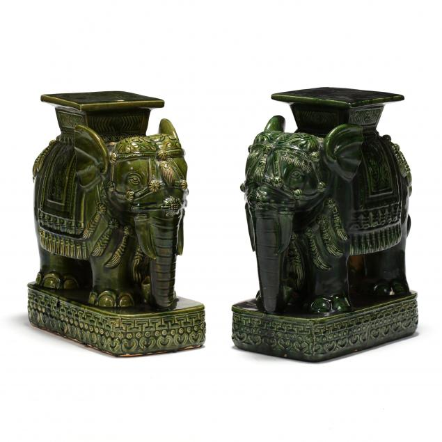a-matched-pair-of-green-elephant-garden-stools
