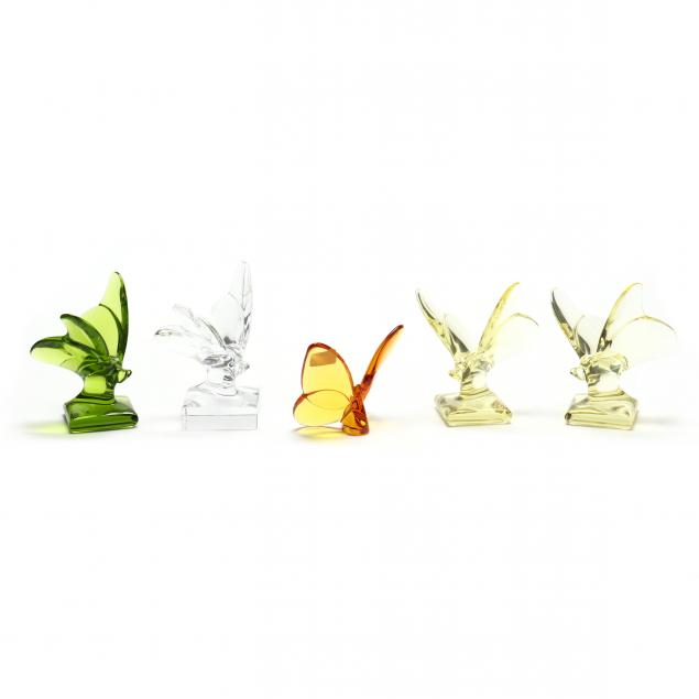 baccarat-five-colored-crystal-butterflies
