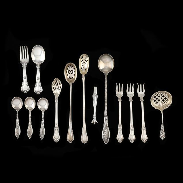 a-grouping-of-american-sterling-silver-flatware