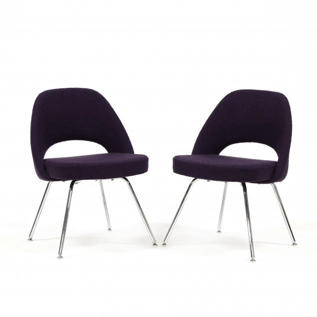 eero-saarinen-finnish-1910-1961-pair-of-executive-armless-chairs-in-purple