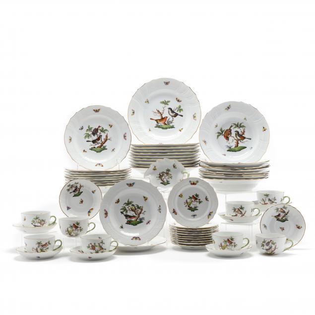 a-partial-set-of-herend-rothschild-bird-dinnerware