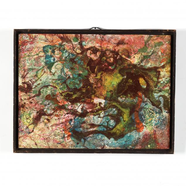 irene-moss-ny-mid-century-abstract-painting