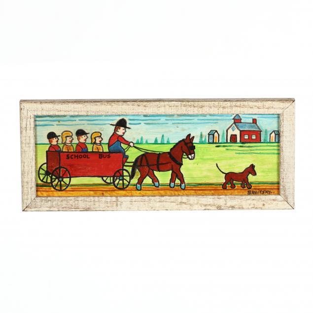 john-jack-savitsky-pa-1910-1991-horse-drawn-school-bus