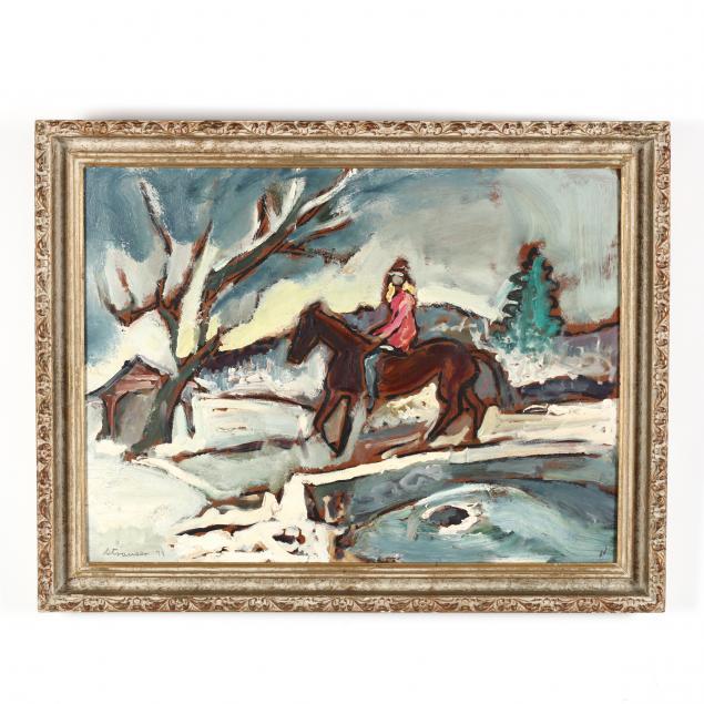 sterling-strauser-pa-1907-1995-horse-rider
