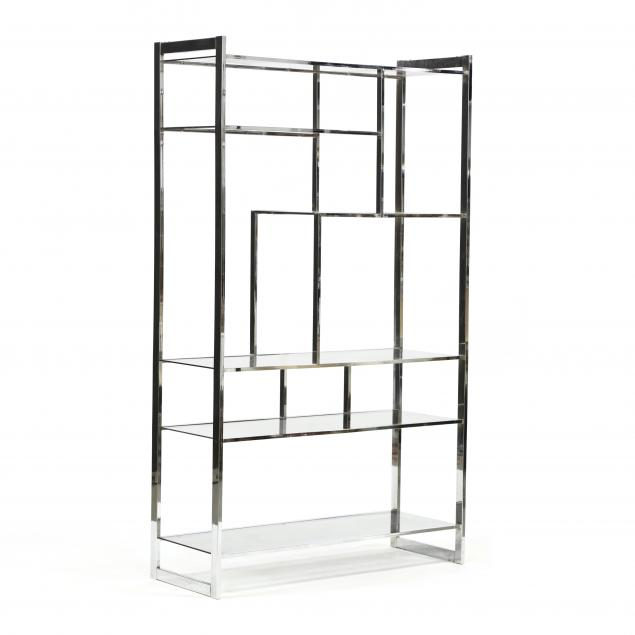 vintage-chrome-and-glass-etagere