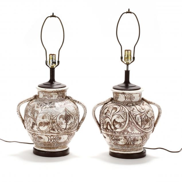 pair-of-vintage-italian-pottery-table-lamps
