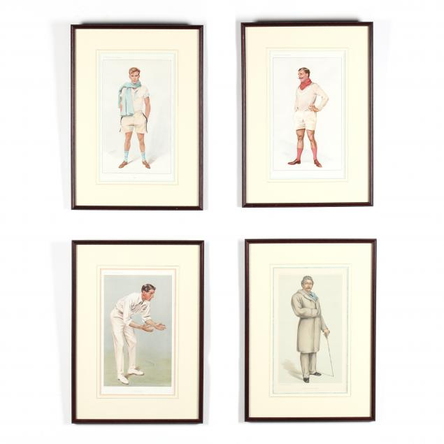 group-of-4-vanity-fair-prints-of-rowers-and-a-cricketeer