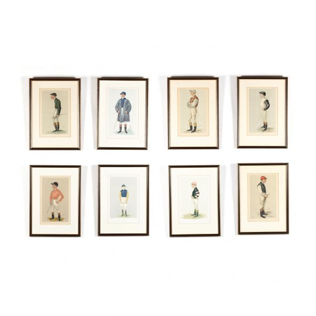 group-of-8-vanity-fair-prints-of-jockeys