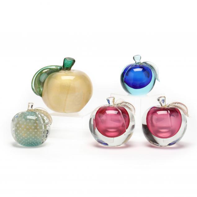 five-murano-art-glass-peaches