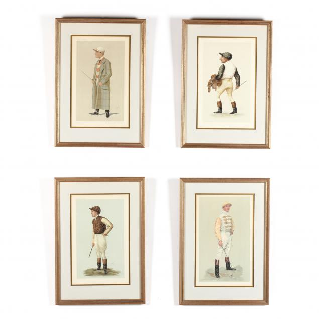 group-of-4-vanity-fair-prints-of-jockeys