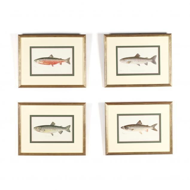 four-antique-sherman-denton-trout-prints