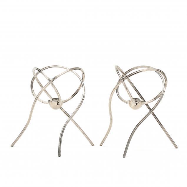 pair-of-modernist-steel-candleholders