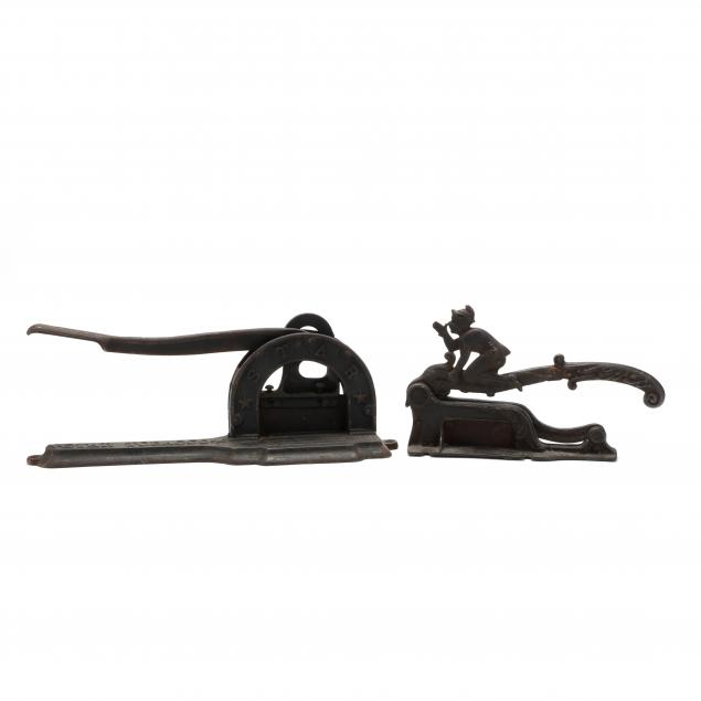 two-cast-iron-tobacco-plug-cutters