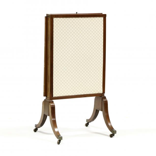 edwardian-inlaid-mahogany-expanding-fire-screen