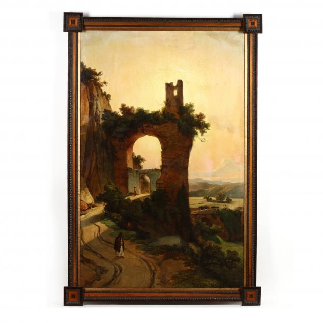 prosper-barbot-french-1798-1878-landscape-with-figures-and-ruins