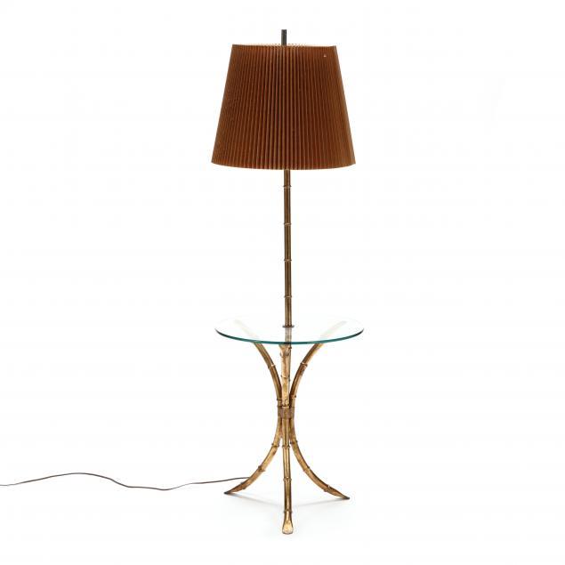 vintage-gilt-faux-bamboo-floor-lamp