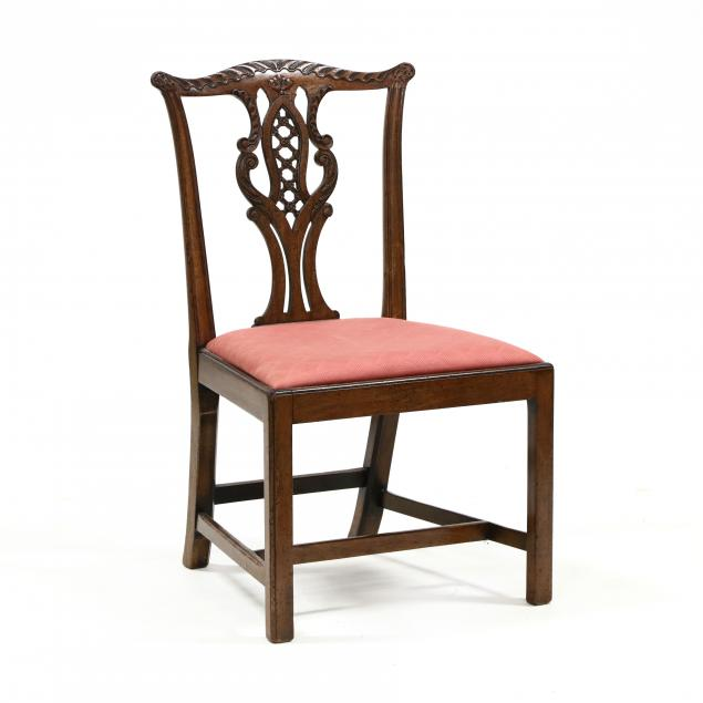 irish-chippendale-style-carved-mahogany-side-chair