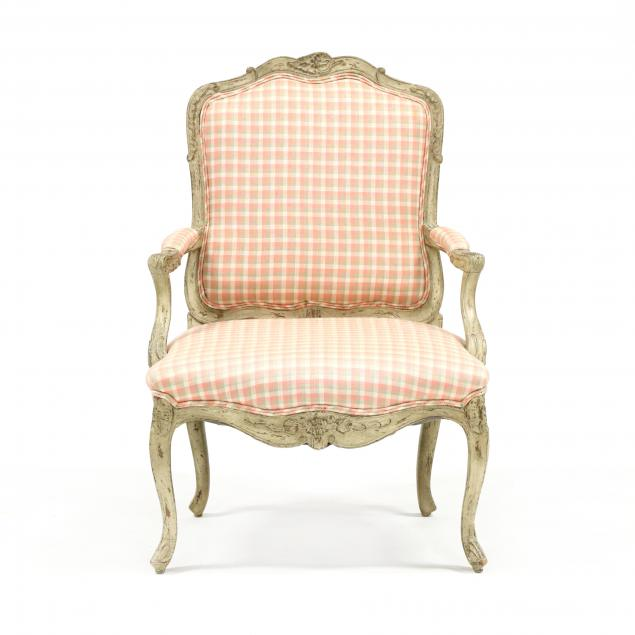 louis-xv-style-carved-and-painted-fauteuil